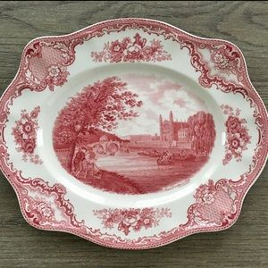Old Britain Castles pink oval dinner plate